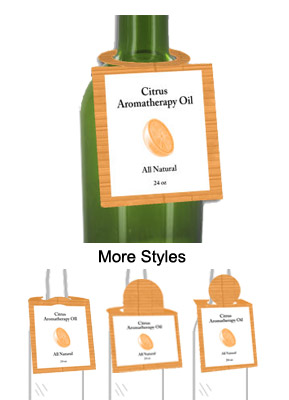 Citrus Aromatherapy Oil Bottle Tags