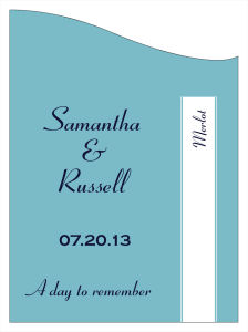 Classic Wine Wedding Labels