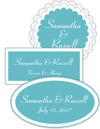 Classical Wedding Labels