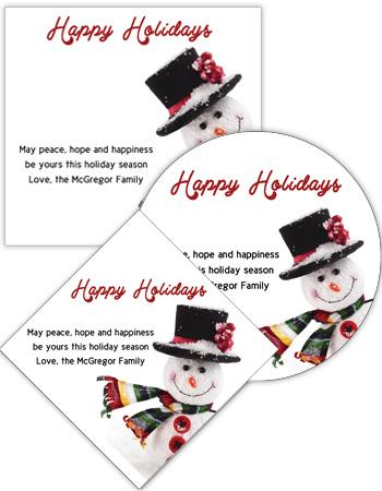 Corner Snowman Christmas Labels