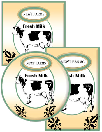 Cow Patch Food and Craft Label