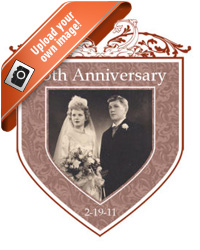 Romanesque anniversary Labels