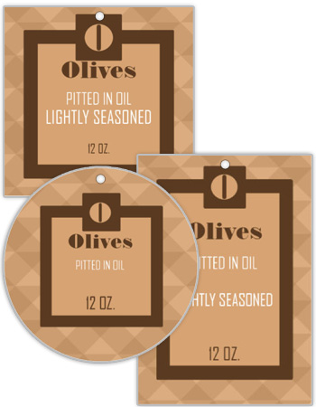 Behind the Garden Canning Favor Tags