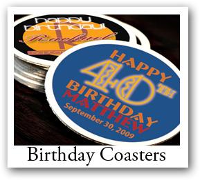 birthday photo coasters