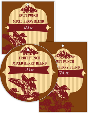 Flying Ducks Canning Favor Tags