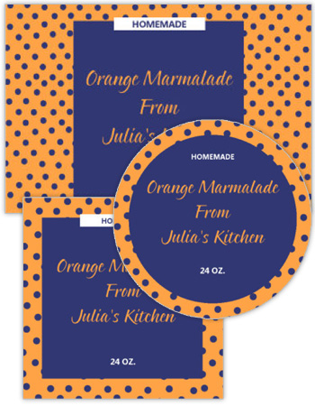 Polka Dot Canning Labels