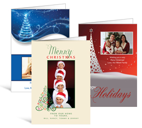 Christmas trees cards for sale custom christmas tree cards 10 shapes sizes 550 x 7875 folded decorated tree christmas cards with photo family style colourmoves