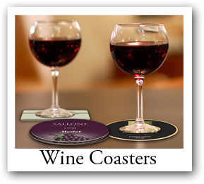 wine bottle coasters, coasters with photo, wine photo coaster, wine coaster with logo