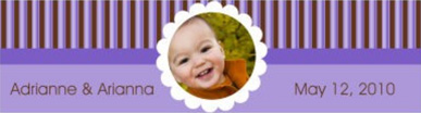 Water Darling Baby Labels 7x1.875