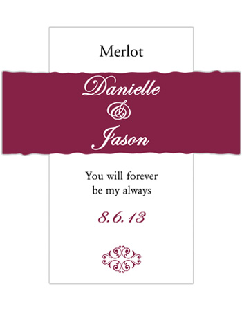 Decor Wine Wedding Labels