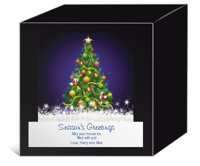 Decorated Christmas Tree Christmas Gift Boxes