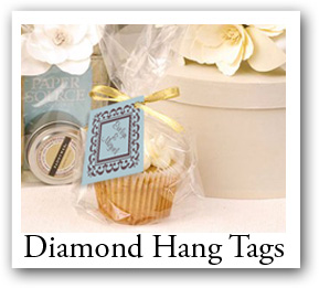 diamond hang tags, Rhombus tags