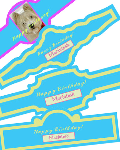 Dog Birthday Cigar Band Labels