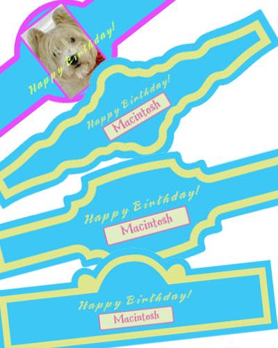 Dog Birthday Cigar Band Labels
