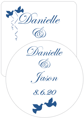 Doves Wedding Coasters