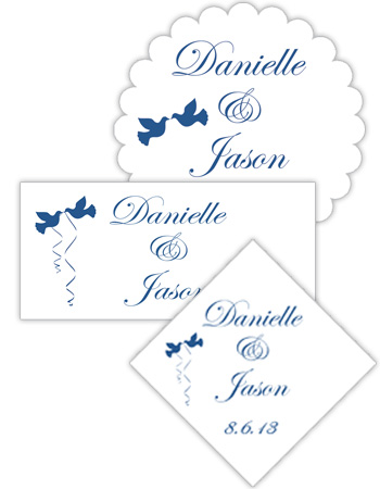 Doves Wedding Labels