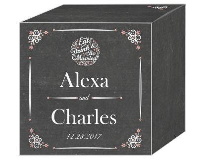 Eat Drink be Married Chalkboard Favor Boxes