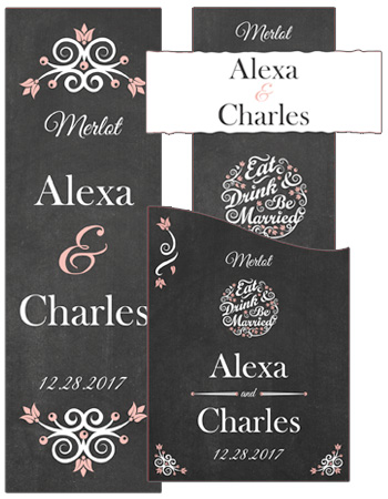 Eat Drink be Married Chalkboard Wedding Labels