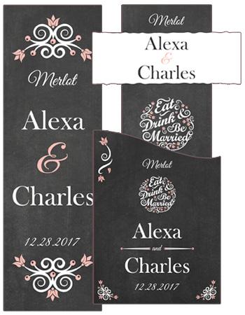 Eat Drink be Married Chalkboard Wedding Labels