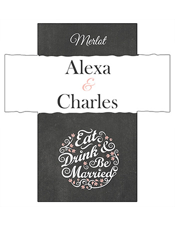Eat Drink be Married Chalkboard Wine Wedding Labels
