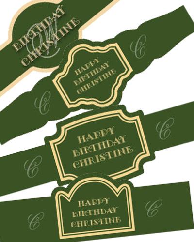 Elegant Birthday Cigar Band Labels