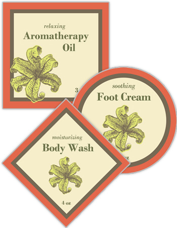 Energize Bath & Body Labels
