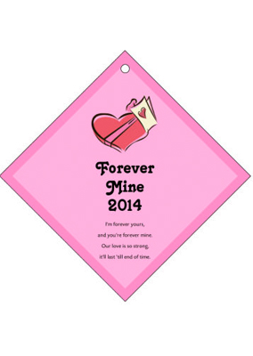 Forever Mine Valentine Day Hang Tags