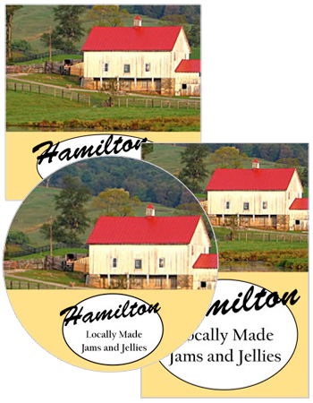 Farm land food and craft label