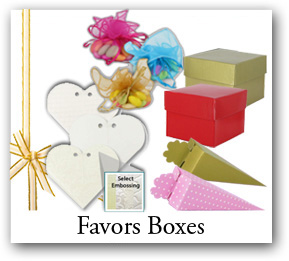 favor boxes, bath products wraps