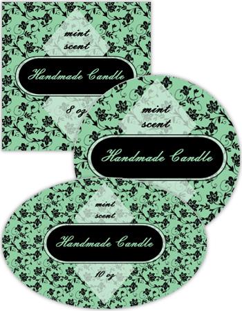 Floral Candle Labels