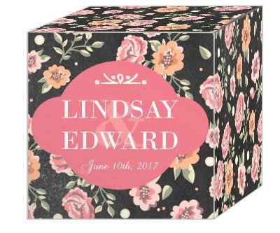 Floral Chalkboard Favor Boxes
