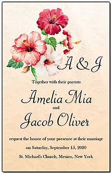 Floral Coralbell Lace Wedding Invitations