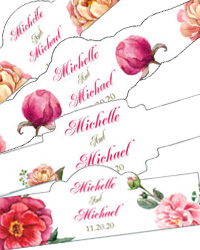 Floral Poppy Cigar Band Labels
