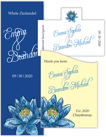 Floral Fairytale Flower Wedding Labels
