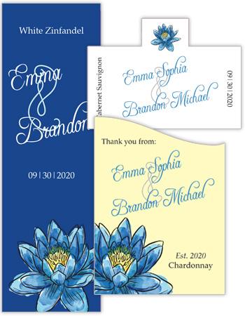 Floral Fairytale Flower Wedding Labels