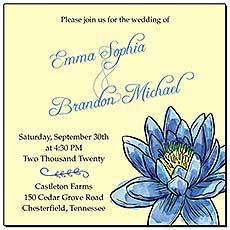 Floral Fairytale Flower Wedding Invitations
