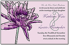 Floral Lovely Lavender Wedding Invitations