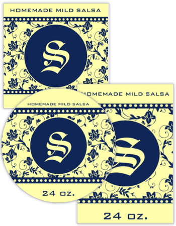 Floral Pearls Canning Labels