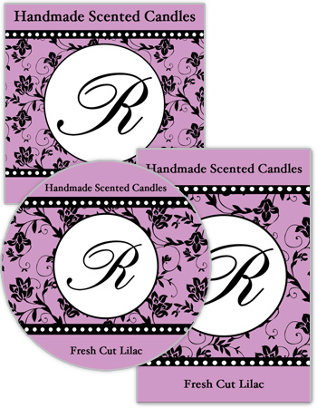 Floralpearls Candle Label