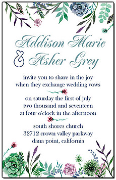 Floral Spring Meadow Flowers Wedding Invitations