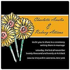 Floral Summer Floral Trio Wedding Invitations