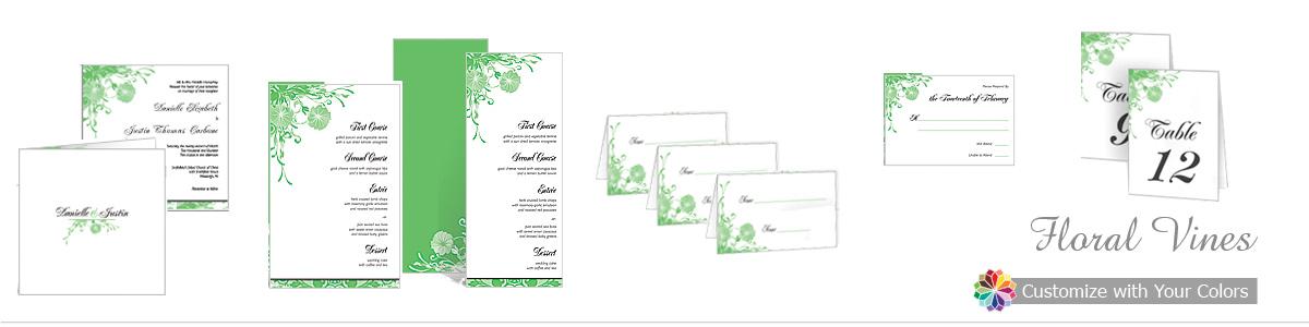 Floral Vines Wedding Invitations