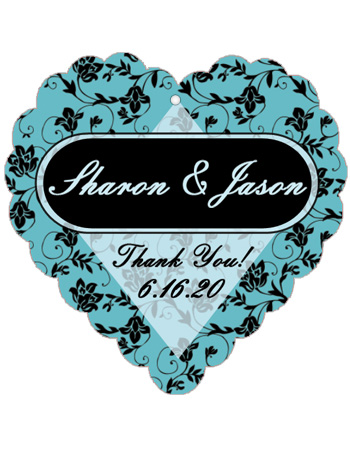 Floral Wedding Favor Tags