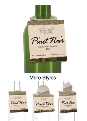 Florida Wine Bottle Tags