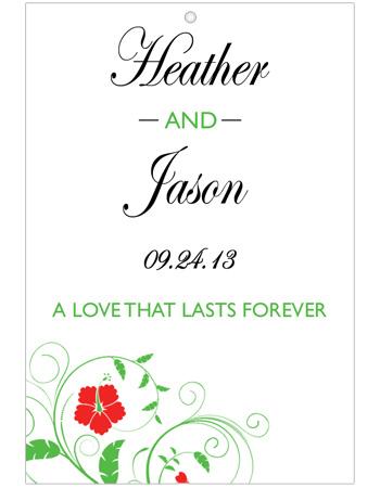 Flowers Wedding Hang Tag