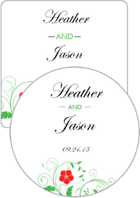 Flowers Wedding Coasters