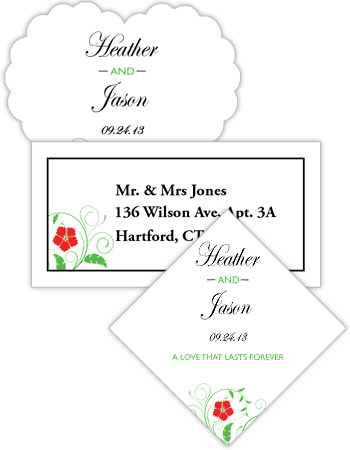 Flowers Wedding Labels