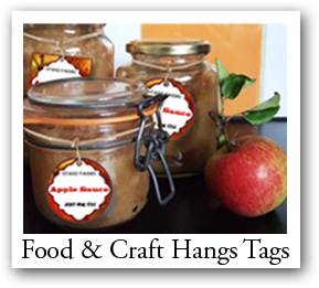 Custom Food Hang tags, craft favor tags