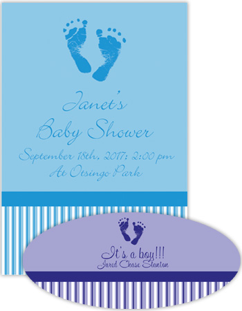 Baby Footprints Labels