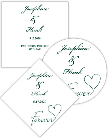 Forever Swirly Wedding Labels